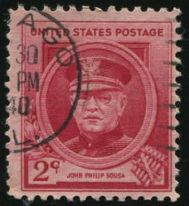 Postmark Stamp Of John Sousa