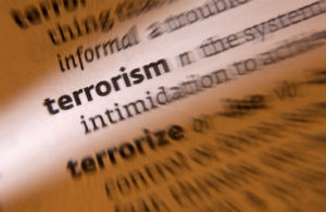 Terrorism Written In Words